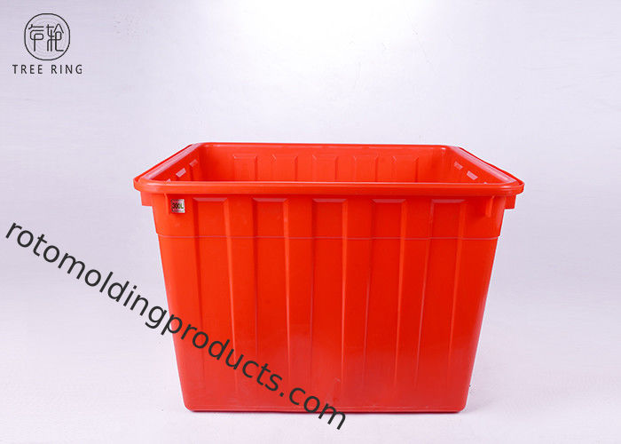 Large Solid Nesting Plastic Bin Boxes , Red / Blue Plastic Storage Containers Recycling