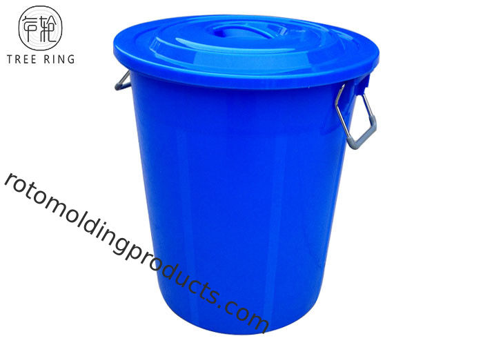 35 Gallon Large Plastic Rubbish Bins , Extra Large Garbage Can With Handles