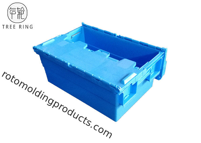 600 * 400 * 260 Mm Euro Stacking Containers , Plastic Nesting Crates With Attached Lids