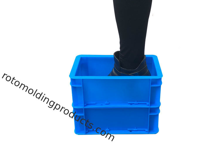 20 Litre Industrial Stacking Plastic Euro Storage Boxes Crate For Conveyor Systems