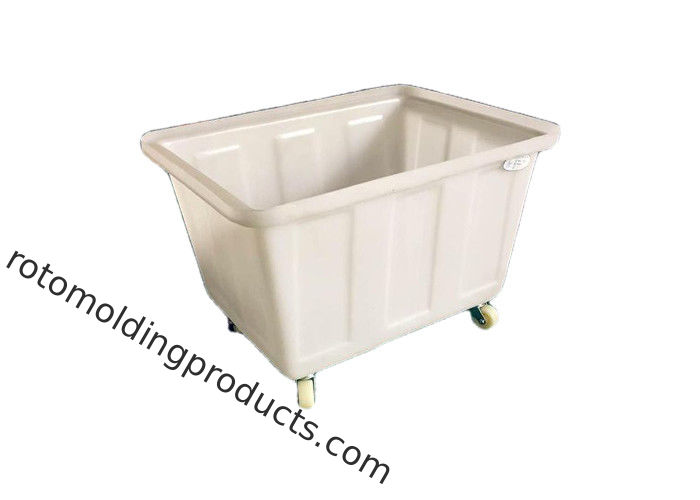Rectangular Tuff Tubs On Trolleys Poly Box Truck With Swivel Castors