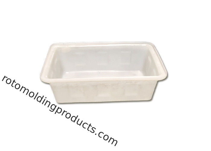 Roto Industrial Grade Heavy Duty Plastic Square Meat Tubs Fish Bin Drip Tray For Freezing