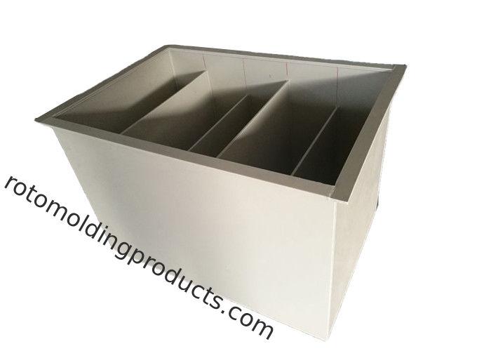 ISO PP Material Plastic Sedimentation Tank For Clay , Glazes And Plaster